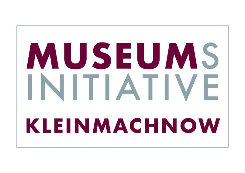 Das Logo der Museumsinitiative Kleinmachnow in der Futura, einer vom Bauhaus inspirierten Schrift aus dem Jahr 1927.