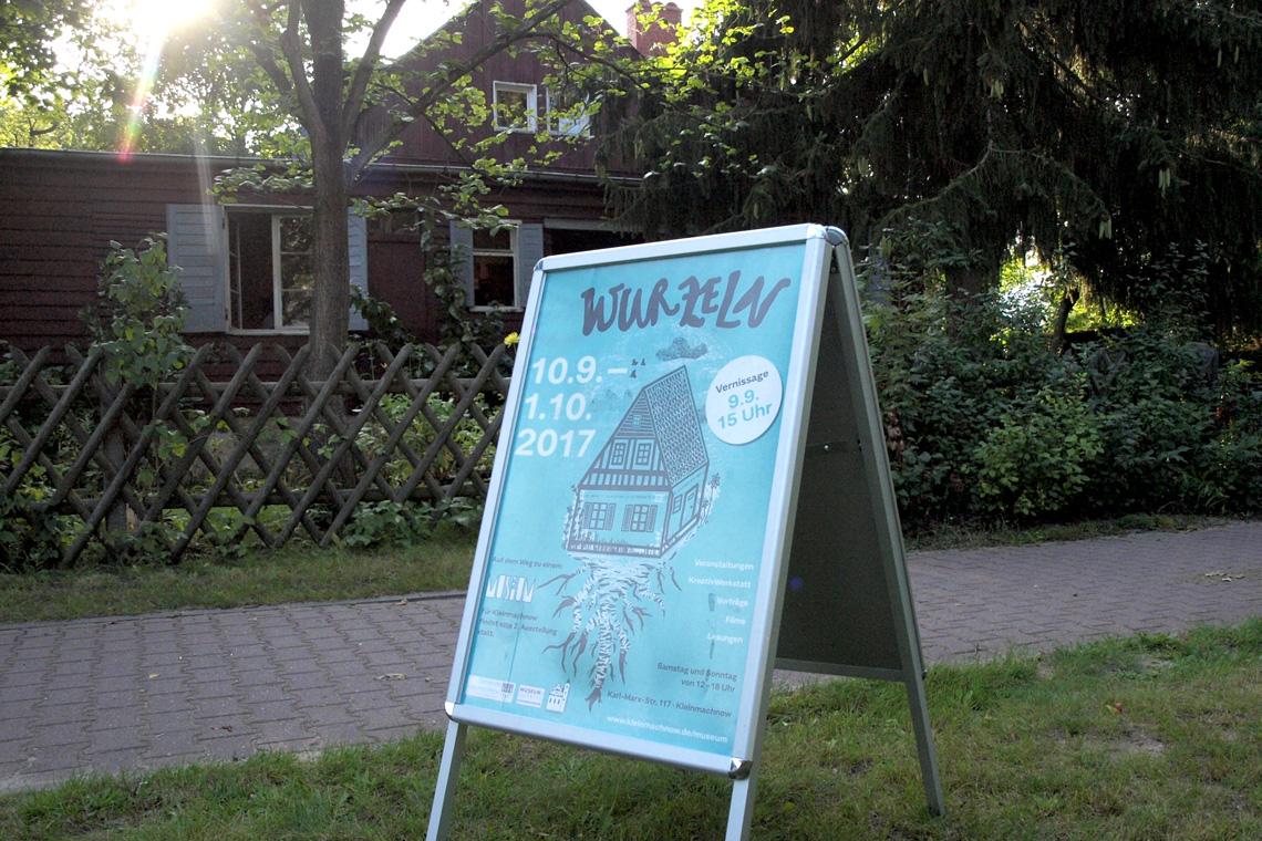 Illustration der Ausstellung WURZELN von Katja Großkinsky